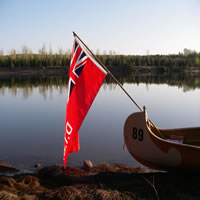 Canoe and Flag