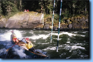Churchill Slalom course on Mosquito Rapids